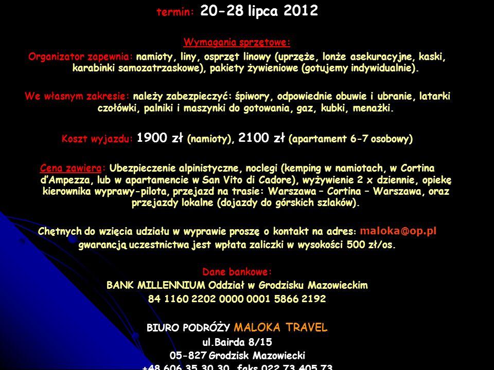 termin: 20-28 lipca 2012 Wymagania sprzętowe:
