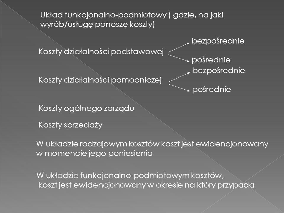 Układ funkcjonalno-podmiotowy ( gdzie, na jaki