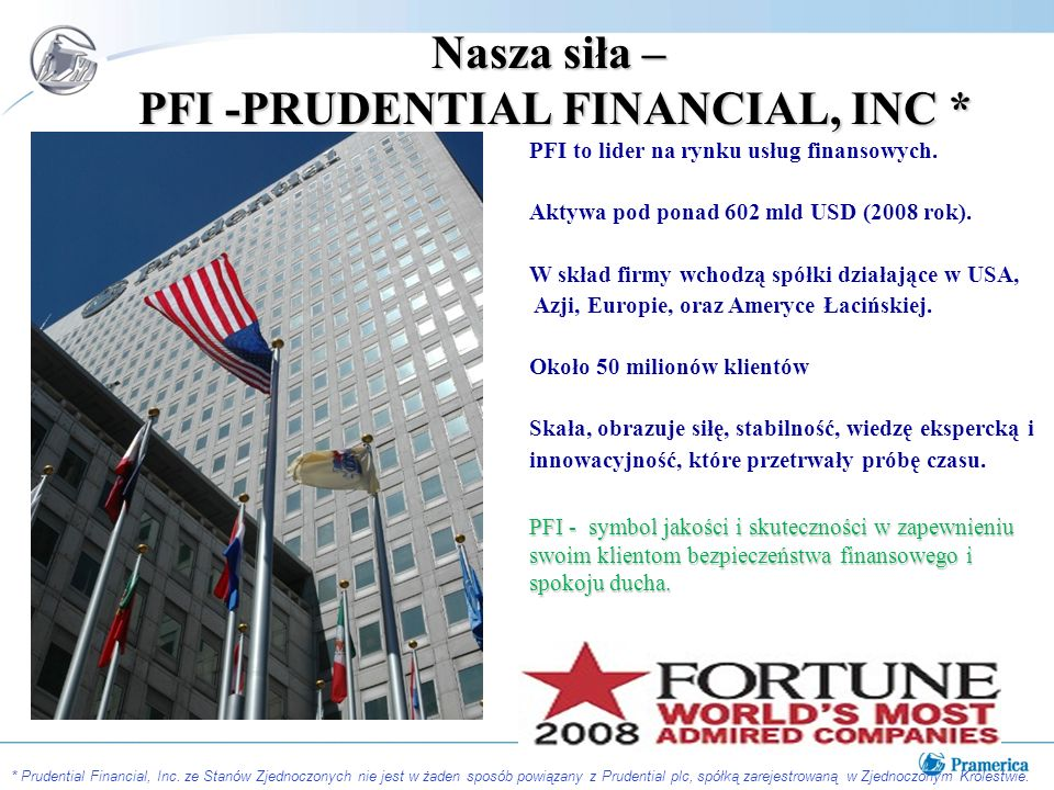 Nasza siła – PFI -PRUDENTIAL FINANCIAL, INC *