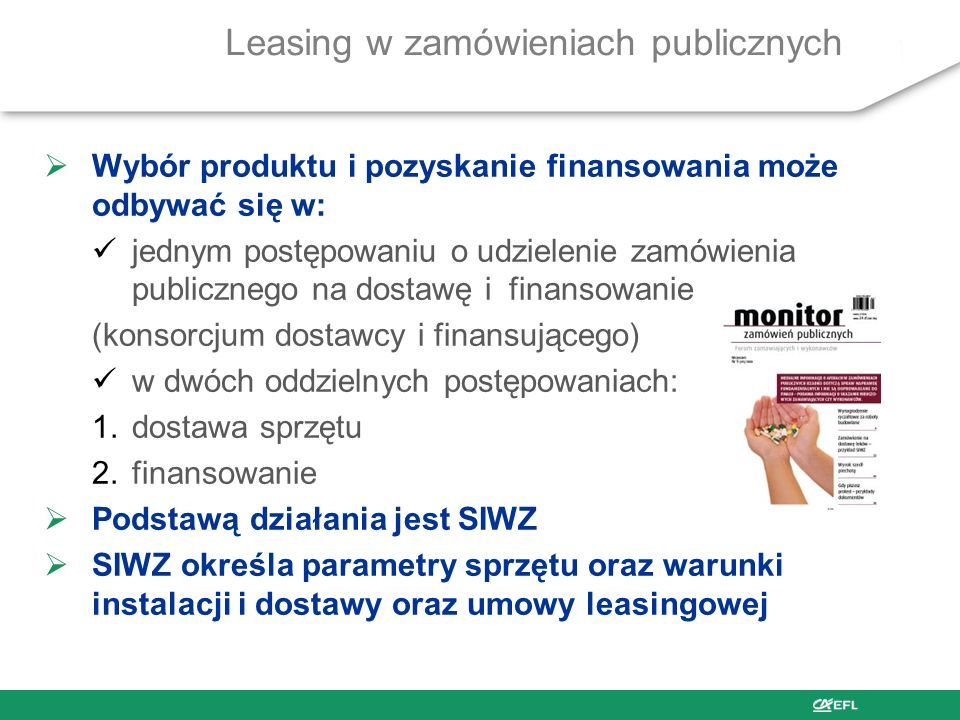 Leasing w zamówieniach publicznych