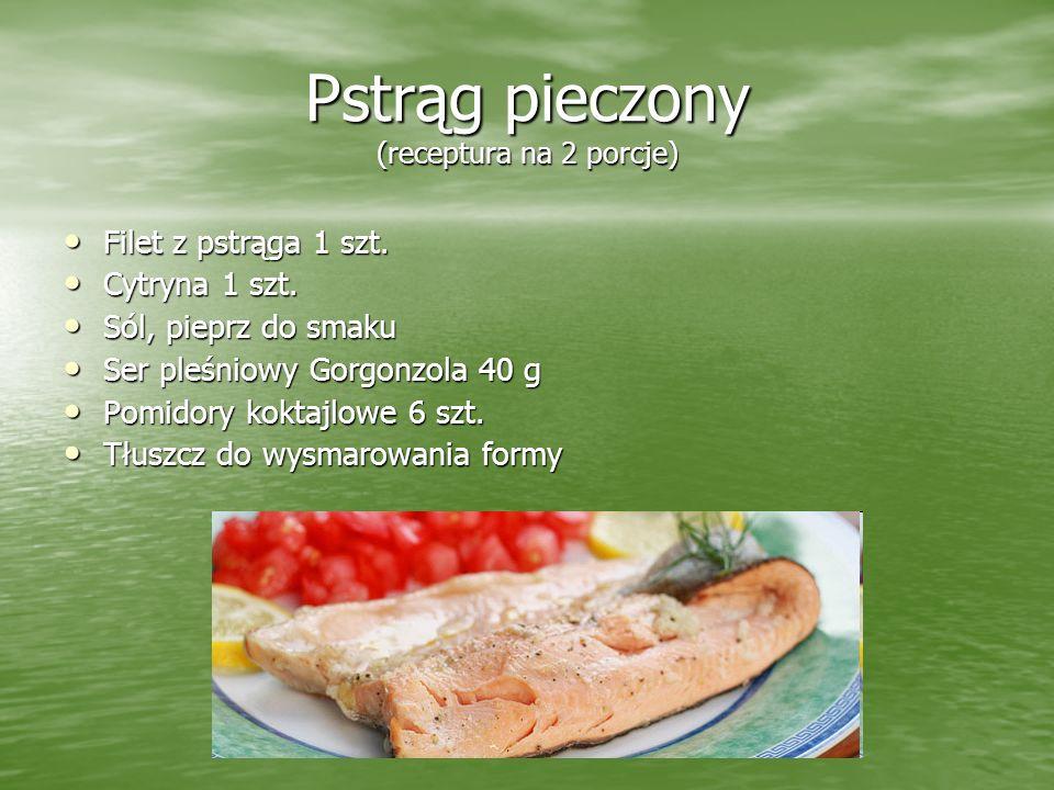 Pstrąg pieczony (receptura na 2 porcje)