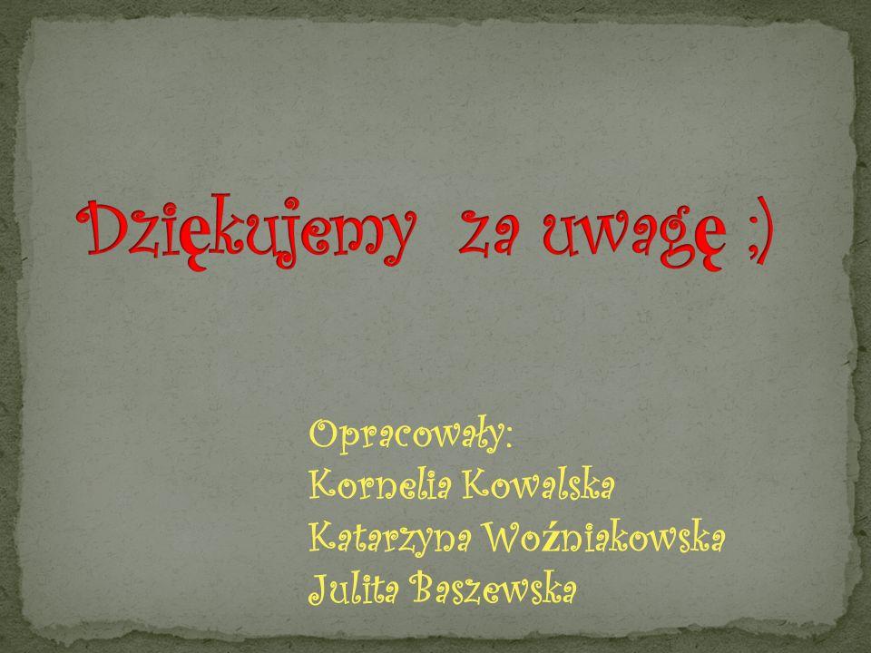 Dziękujemy za uwagę ;) Opracowały: Kornelia Kowalska