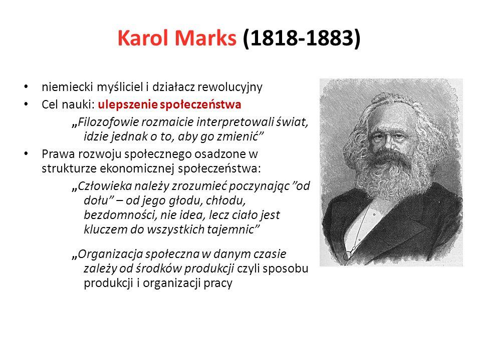 Karol Marks (1818-1883) niemiecki myśliciel i działacz rewolucyjny