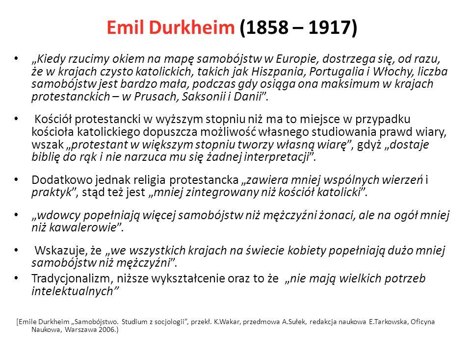Emil Durkheim (1858 – 1917)
