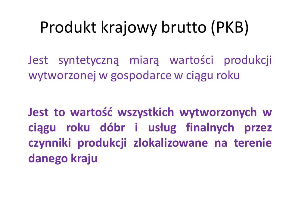 Produkt krajowy brutto (PKB)