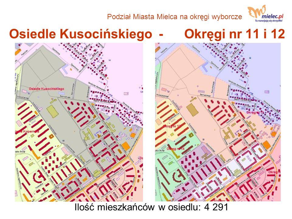 Osiedle Kusocińskiego - Okręgi nr 11 i 12