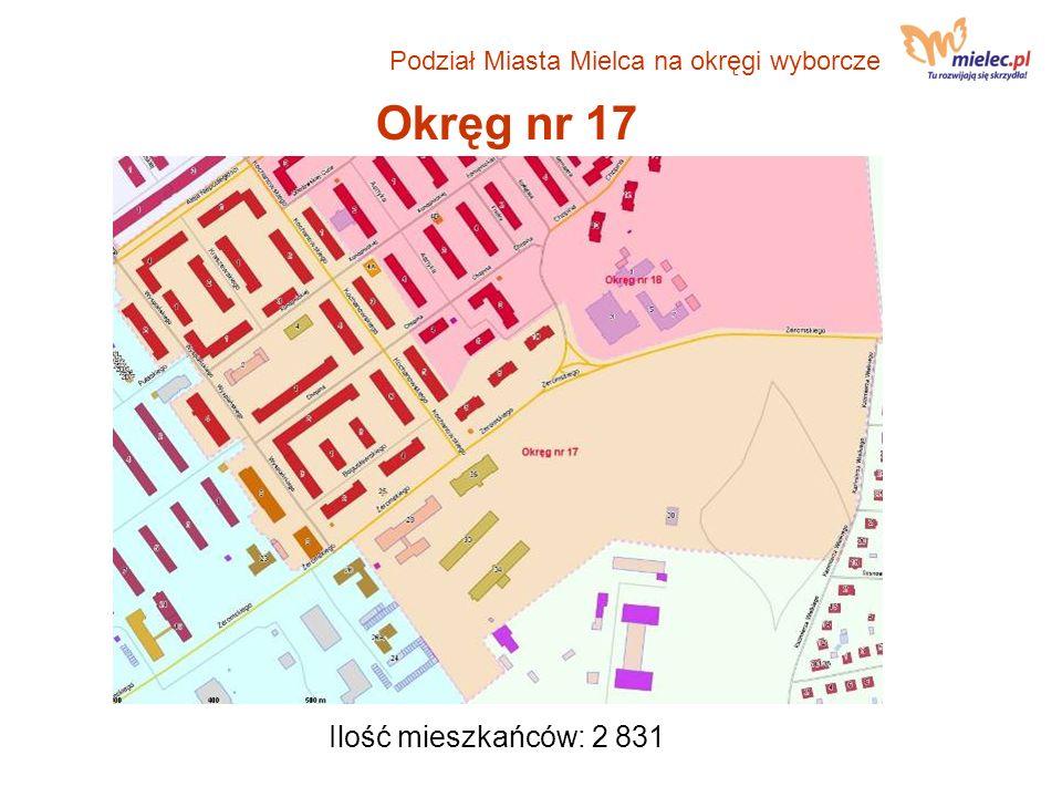 Okręg nr 17 Ilość mieszkańców: 2 831