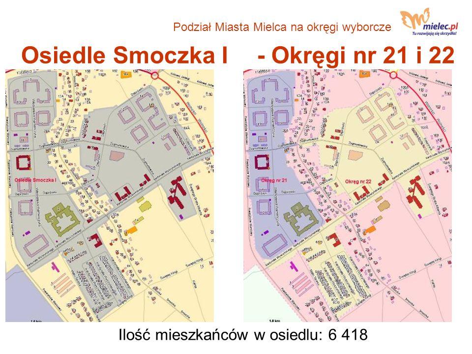 Osiedle Smoczka I - Okręgi nr 21 i 22