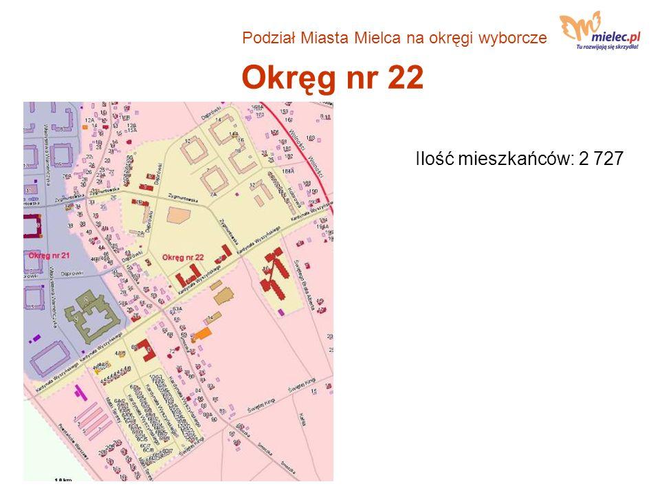 Okręg nr 22 Ilość mieszkańców: 2 727