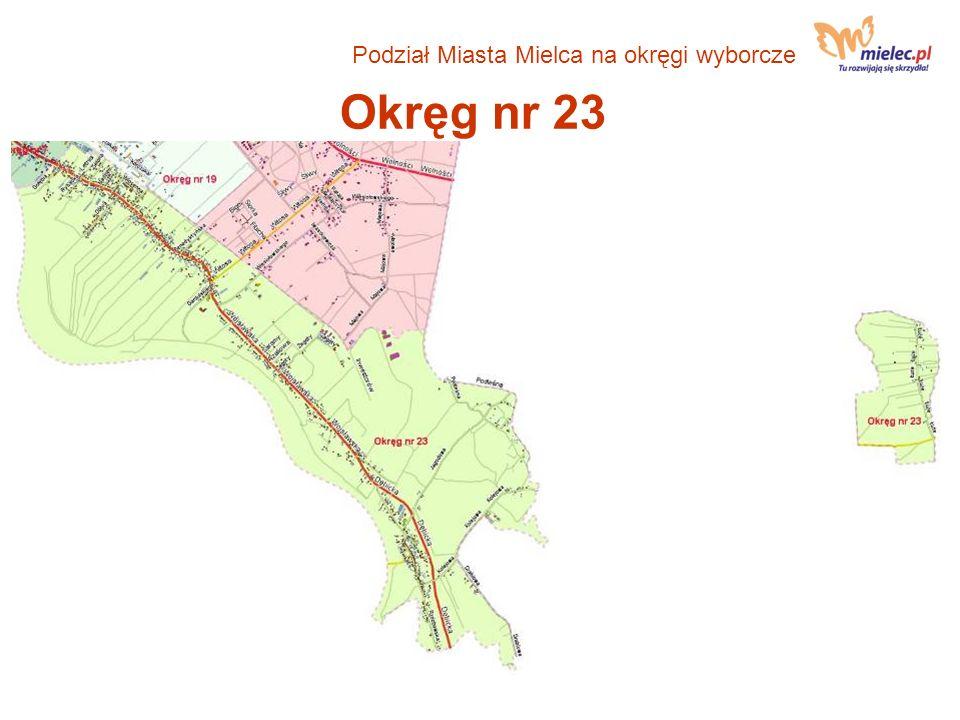 Podział Miasta Mielca na okręgi wyborcze