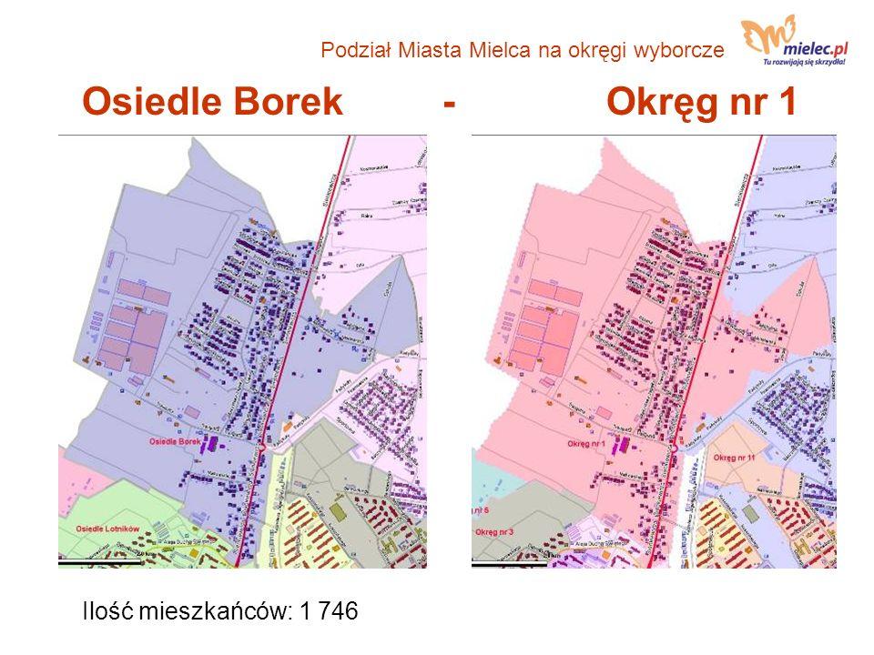 Osiedle Borek - Okręg nr 1