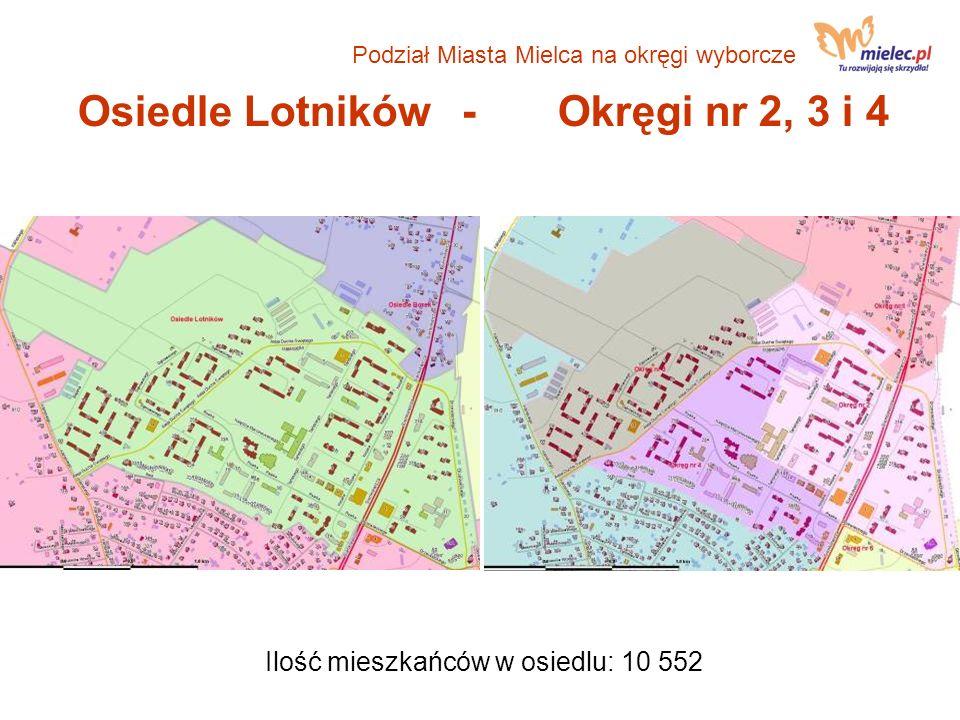 Osiedle Lotników - Okręgi nr 2, 3 i 4