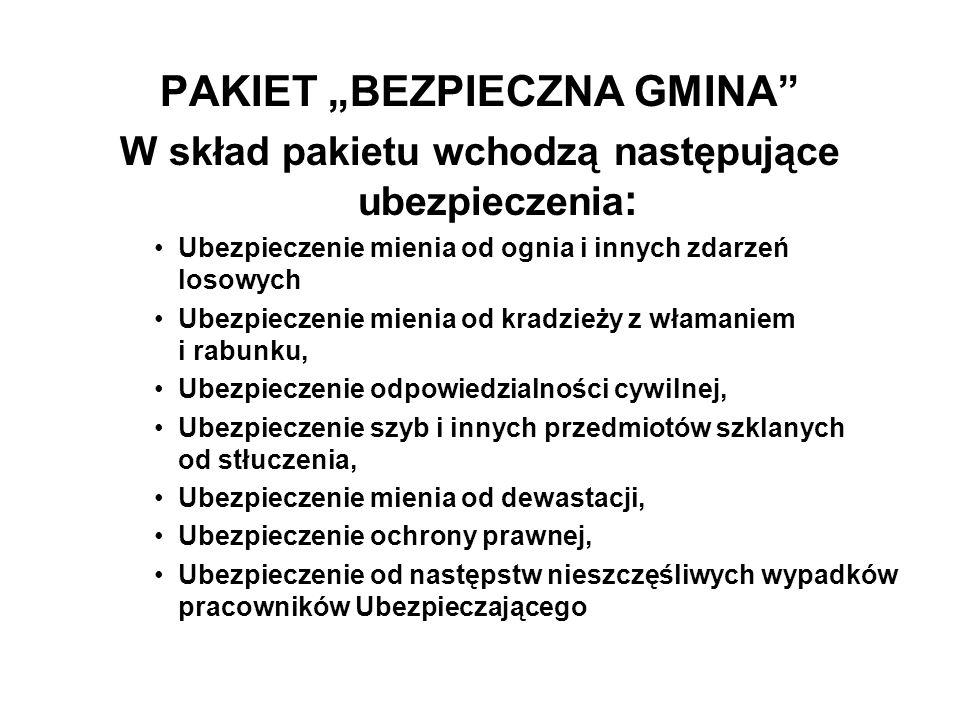 "PAKIET ""BEZPIECZNA GMINA"