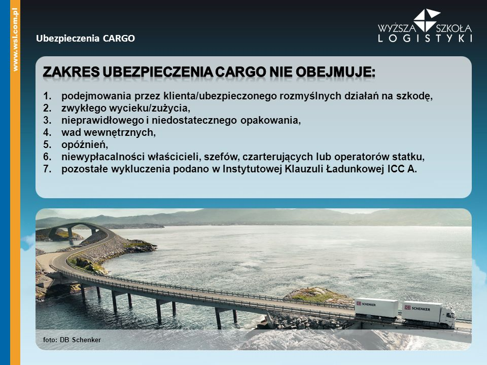 Zakres ubezpieczenia cargo nie obejmuje: