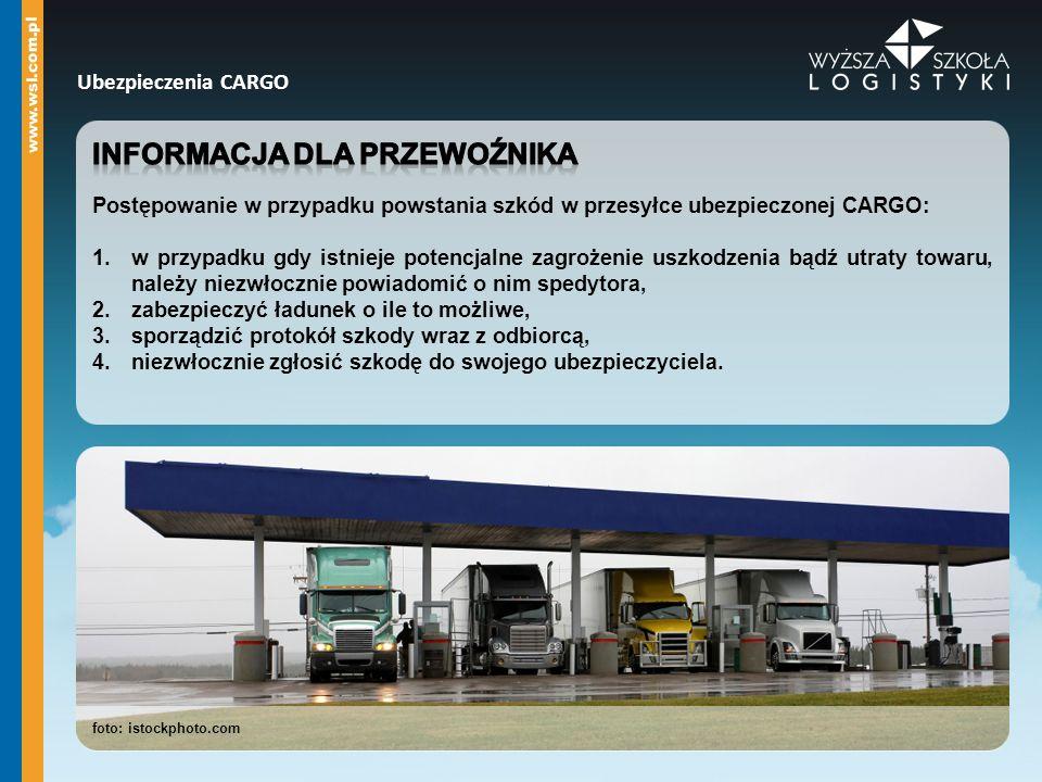 Informacja dla przewoźnika