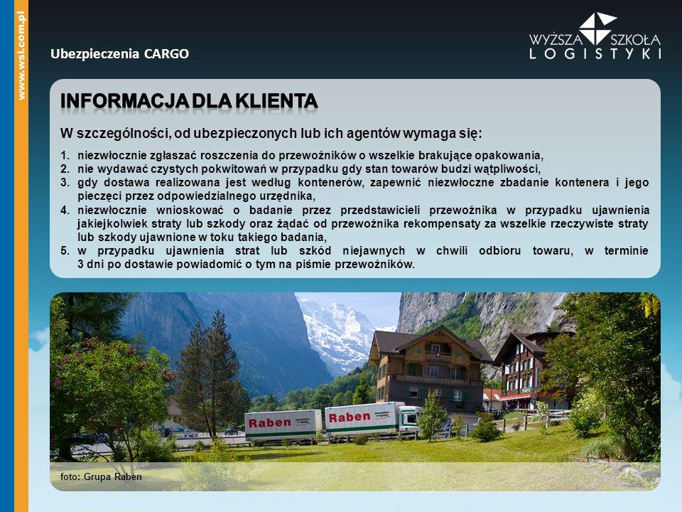 Informacja dla klienta