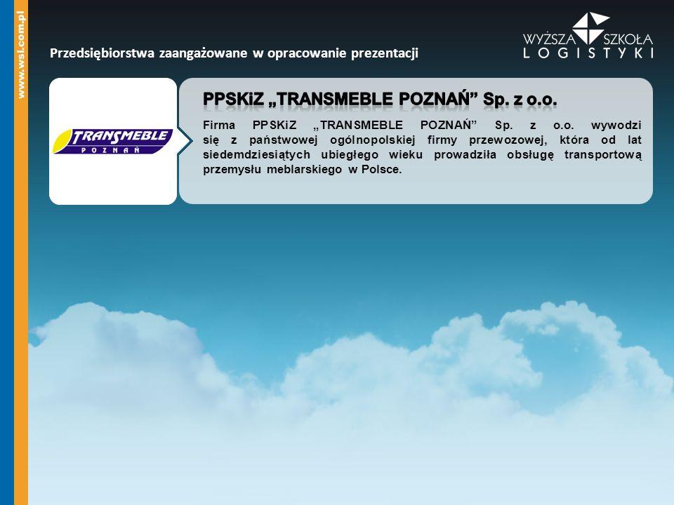 "PPSKiZ ""TRANSMEBLE POZNAŃ Sp. z o.o."