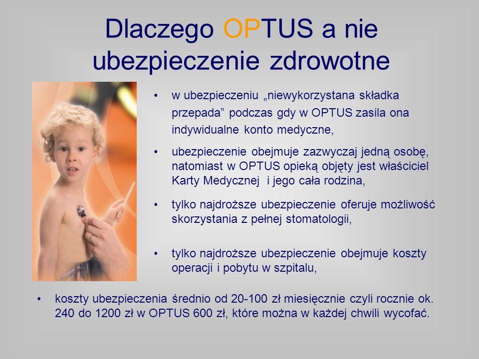 Dlaczego OPTUS a nie ubezpieczenie zdrowotne