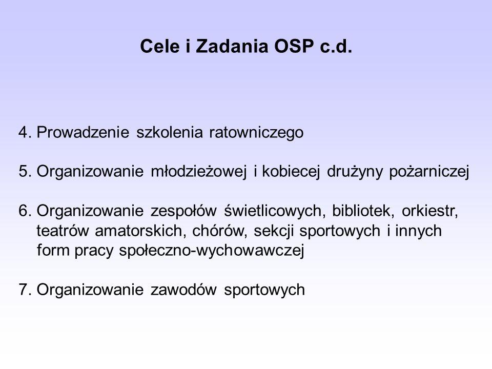 Cele i Zadania OSP c.d. 4. Prowadzenie szkolenia ratowniczego