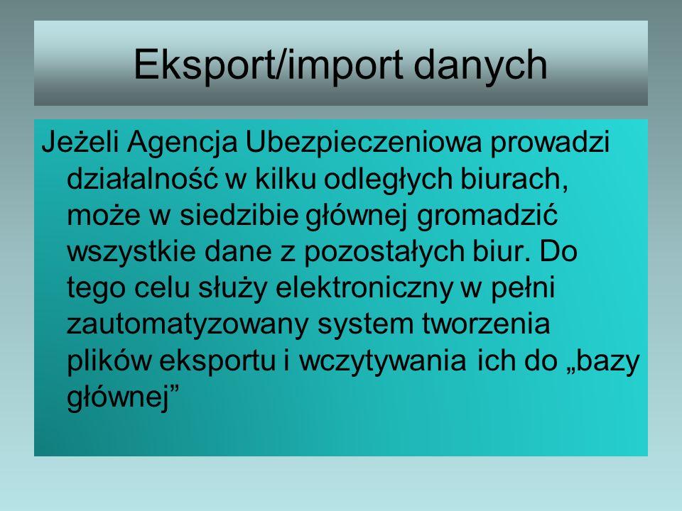 Eksport/import danych