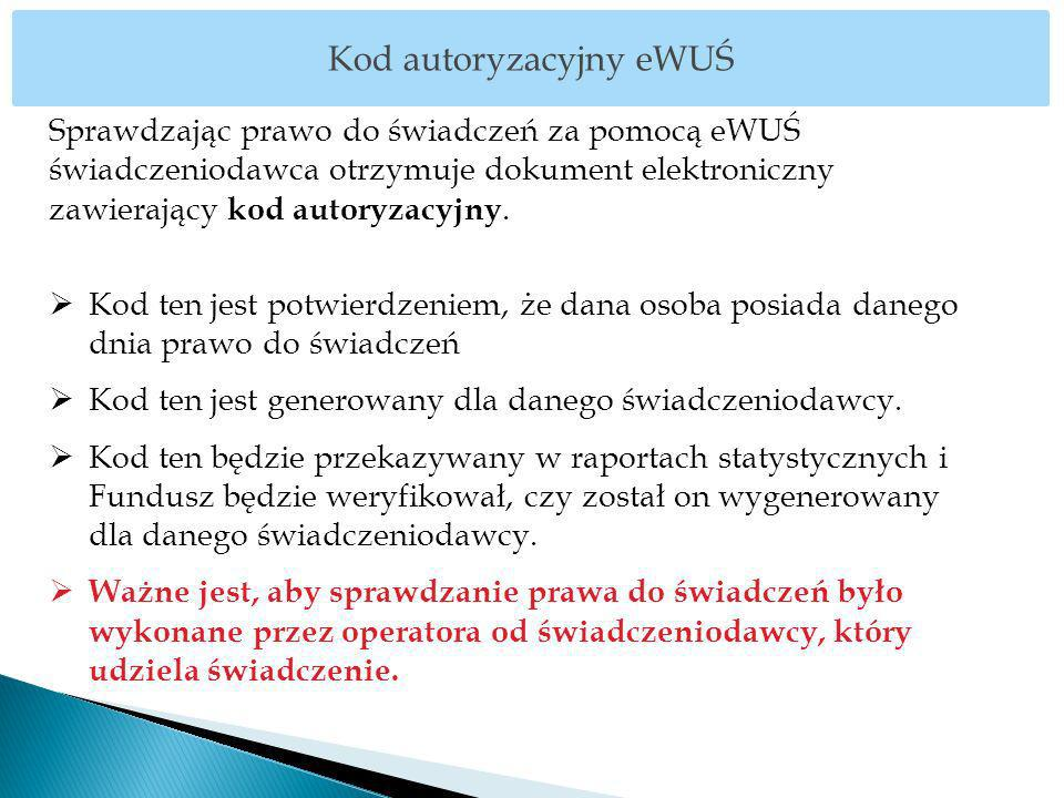 Kod autoryzacyjny eWUŚ