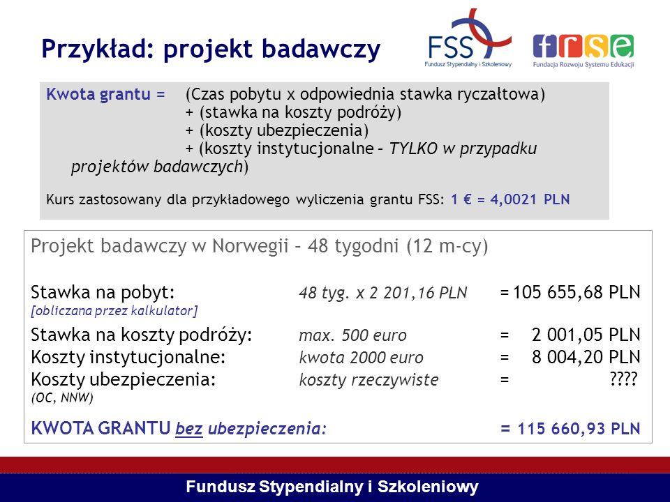 Przykład: projekt badawczy
