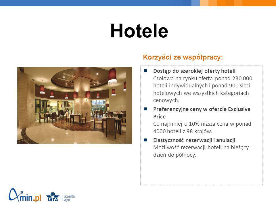 Hotele Korzyści ze współpracy: