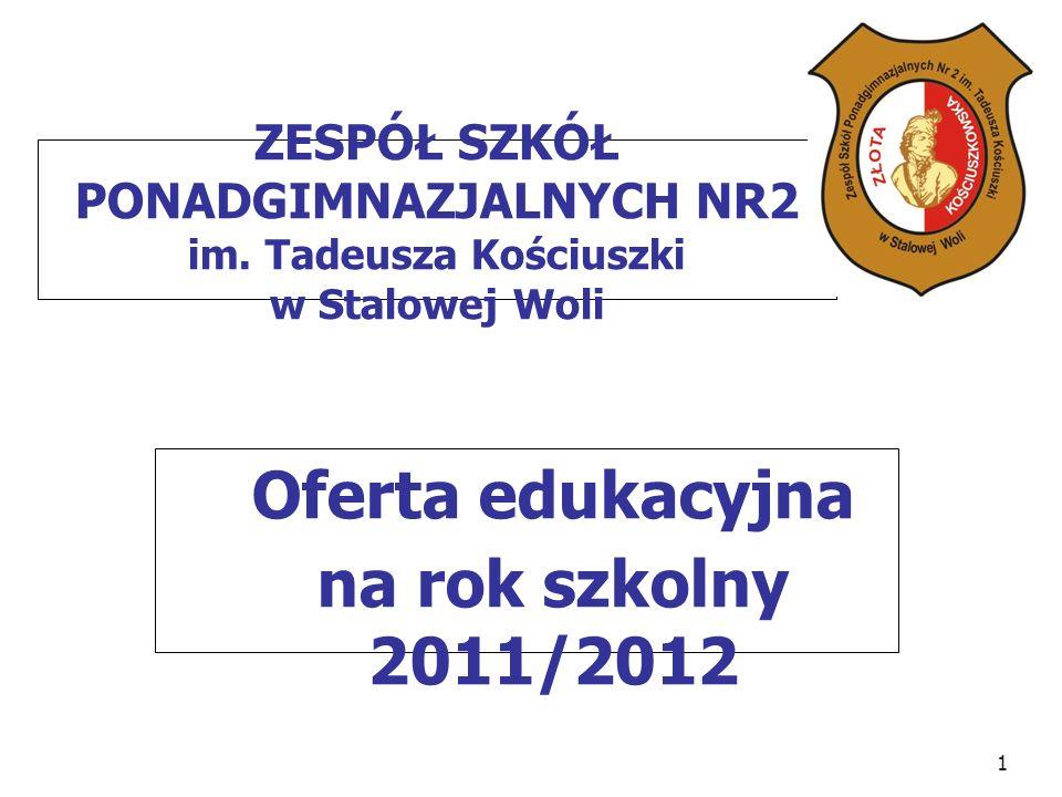 Oferta edukacyjna na rok szkolny 2011/2012