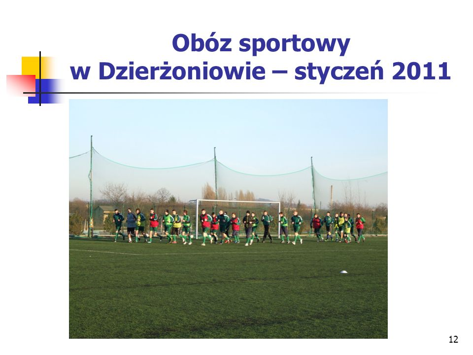Obóz sportowy w Dzierżoniowie – styczeń 2011