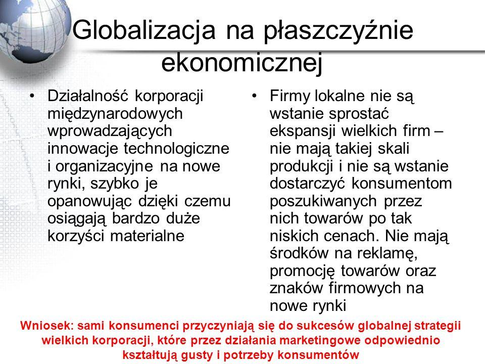 Globalizacja na płaszczyźnie ekonomicznej