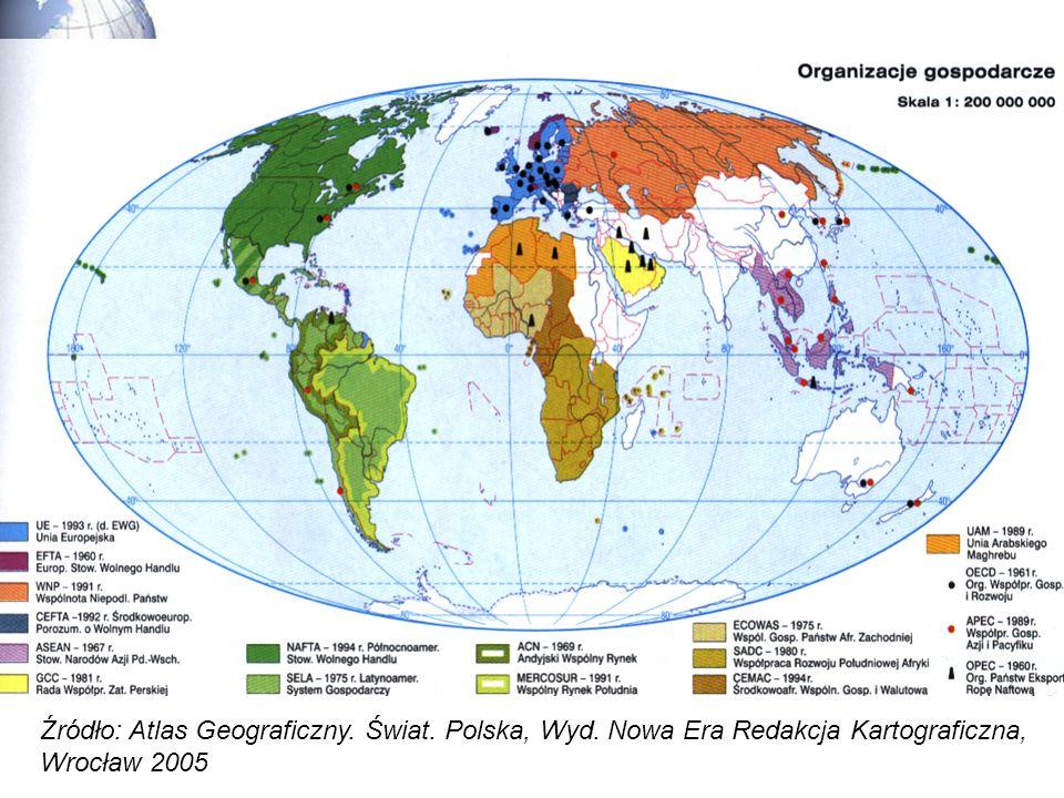 Źródło: Atlas Geograficzny. Świat. Polska, Wyd