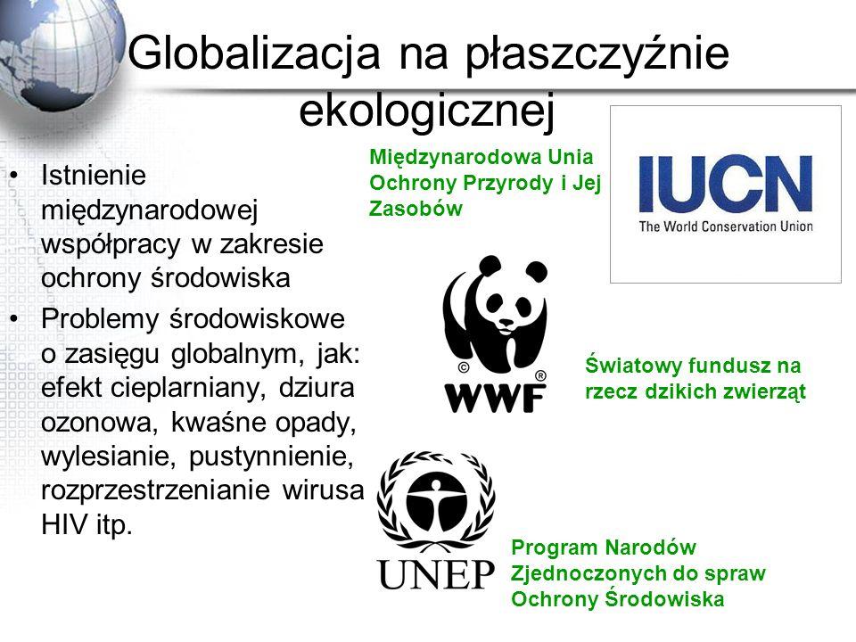 Globalizacja na płaszczyźnie ekologicznej