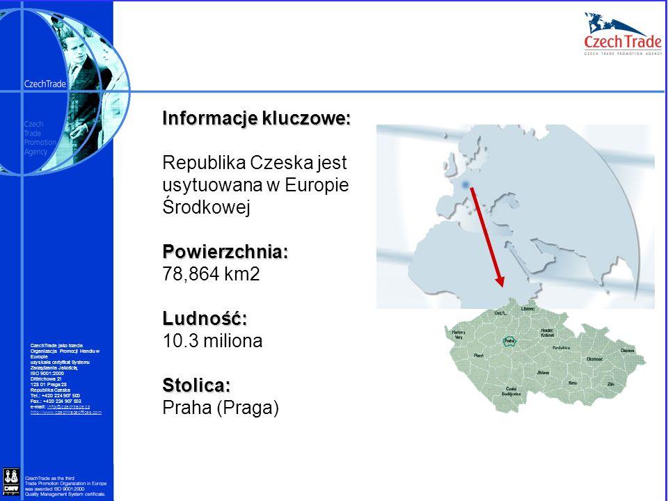 Informacje kluczowe: Republika Czeska jest usytuowana w Europie