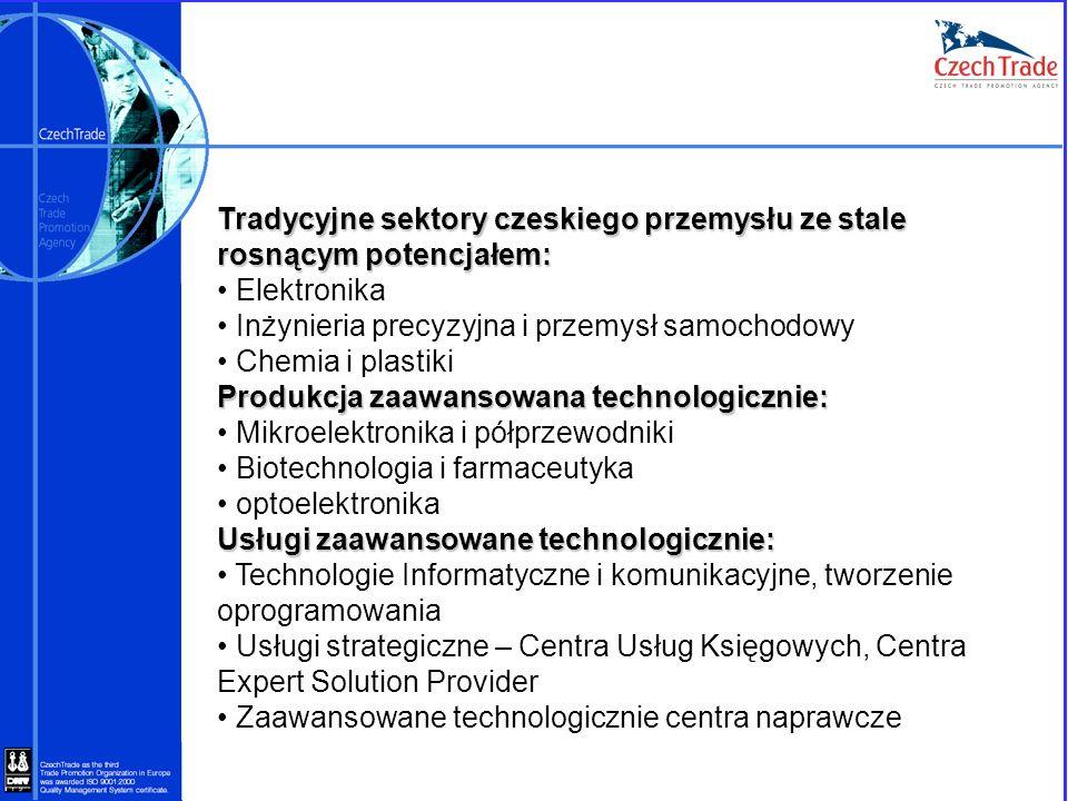 Tradycyjne sektory czeskiego przemysłu ze stale rosnącym potencjałem: