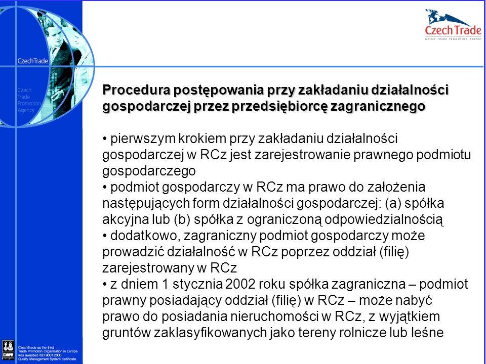 Procedura postępowania przy zakładaniu działalności gospodarczej przez przedsiębiorcę zagranicznego