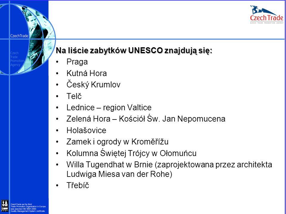 Na liście zabytków UNESCO znajdują się: