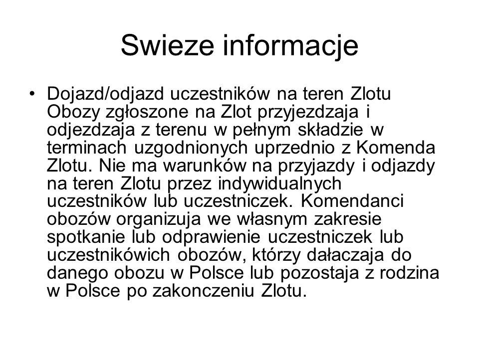 Swieze informacje