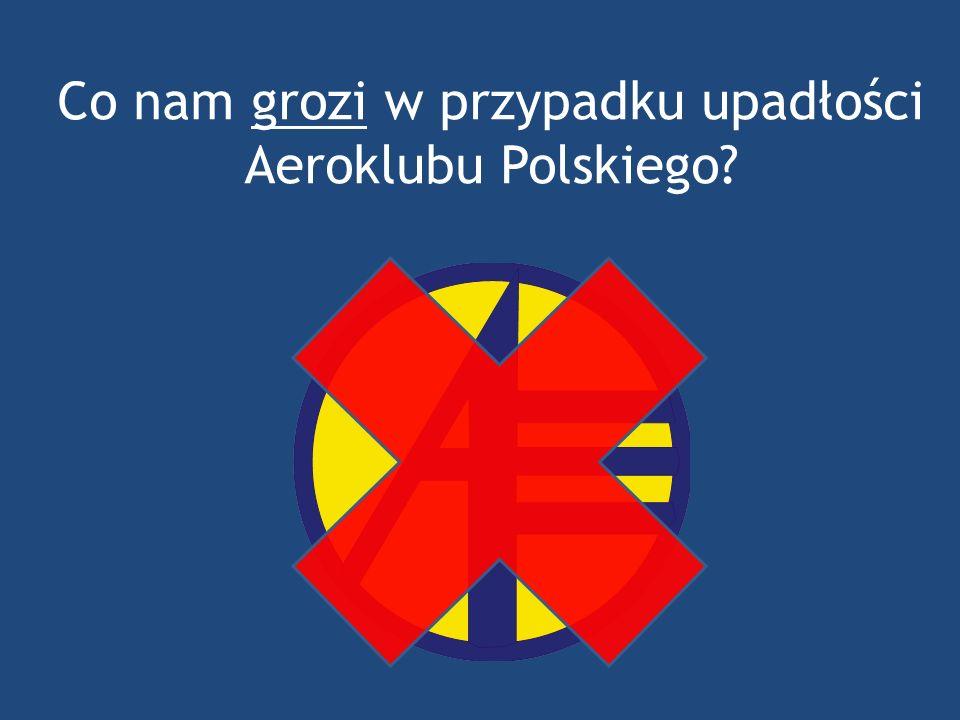 Co nam grozi w przypadku upadłości Aeroklubu Polskiego