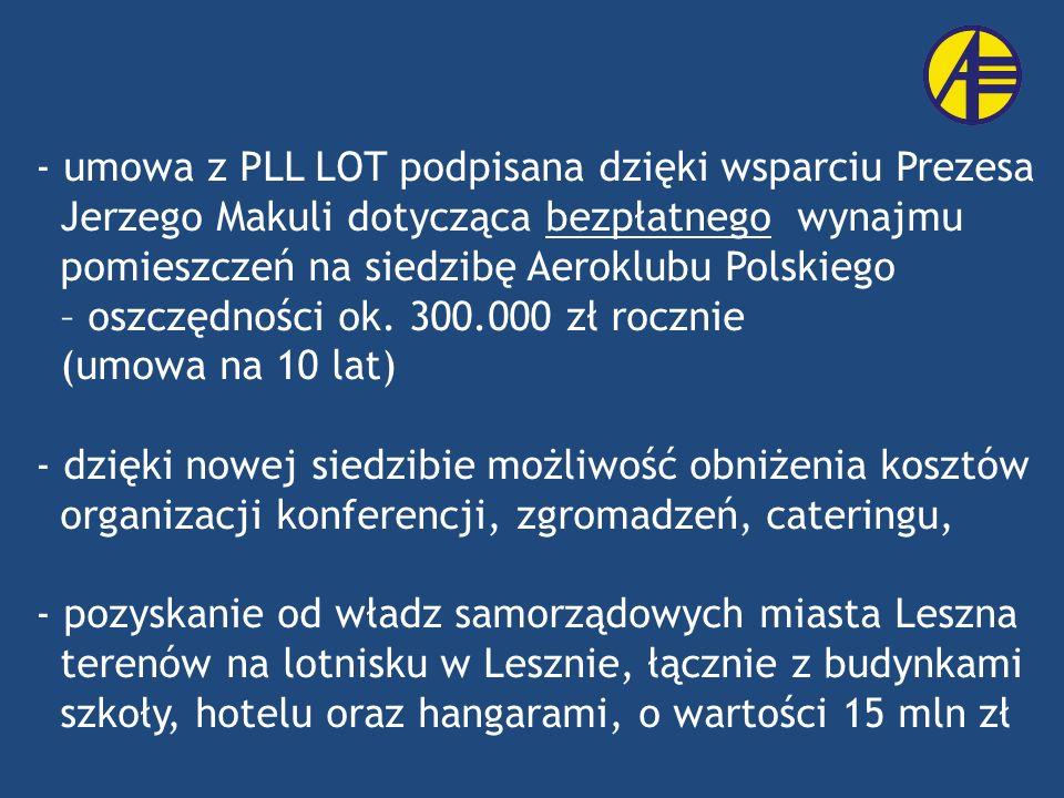 umowa z PLL LOT podpisana dzięki wsparciu Prezesa