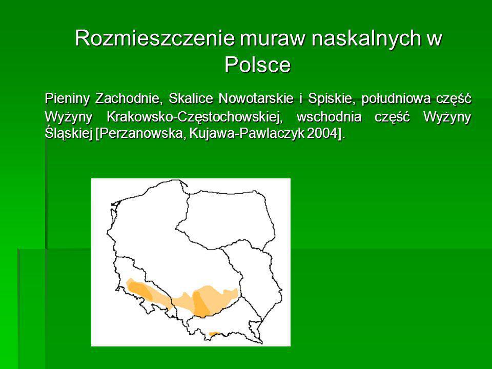 Rozmieszczenie muraw naskalnych w Polsce