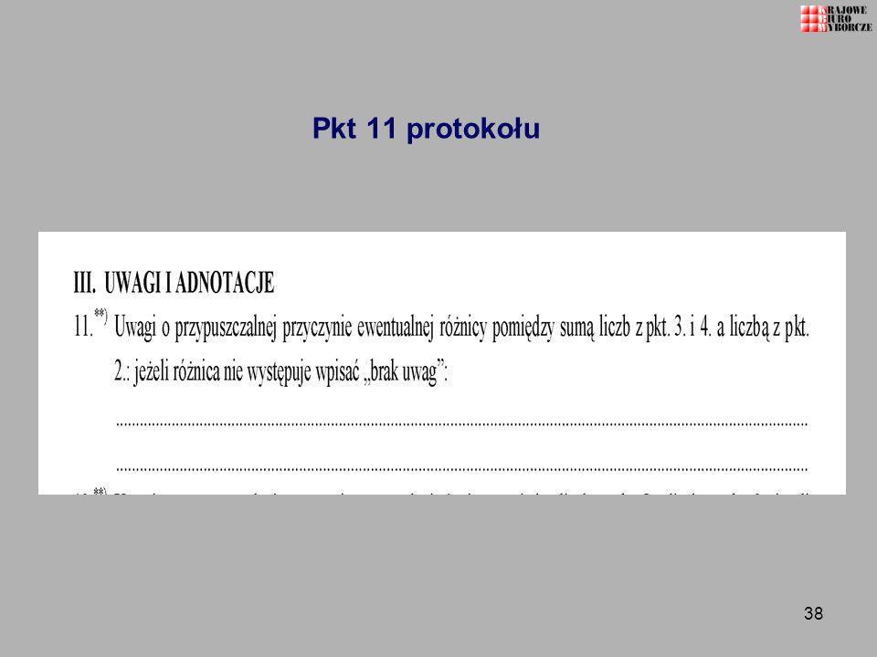 Pkt 11 protokołu