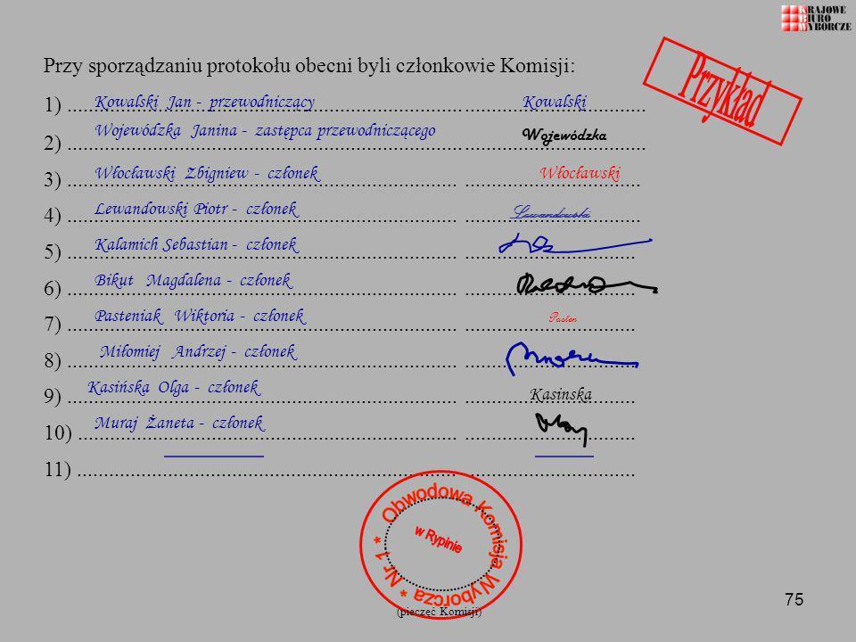 Obwodowa Komisja Wyborcza * Nr 1 *