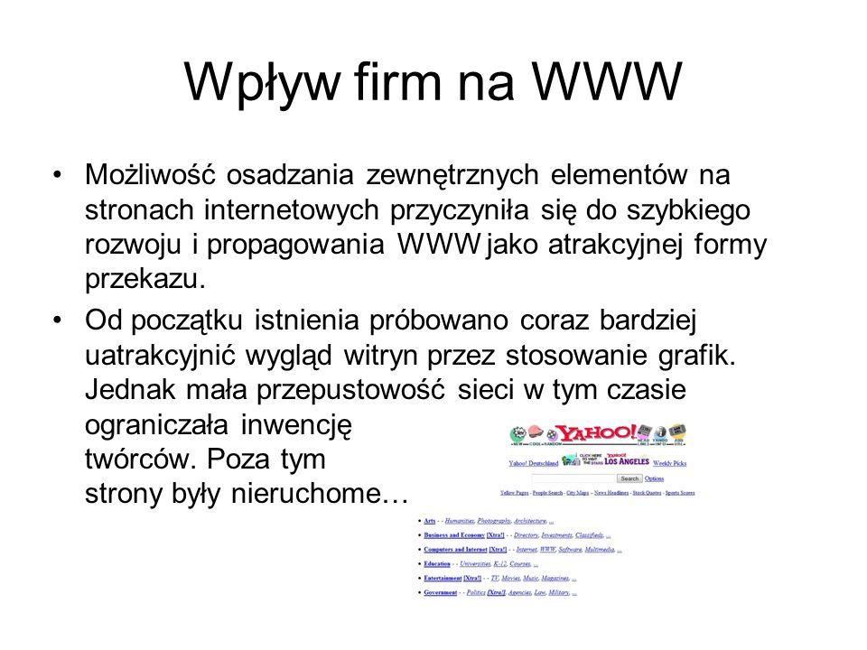 Wpływ firm na WWW