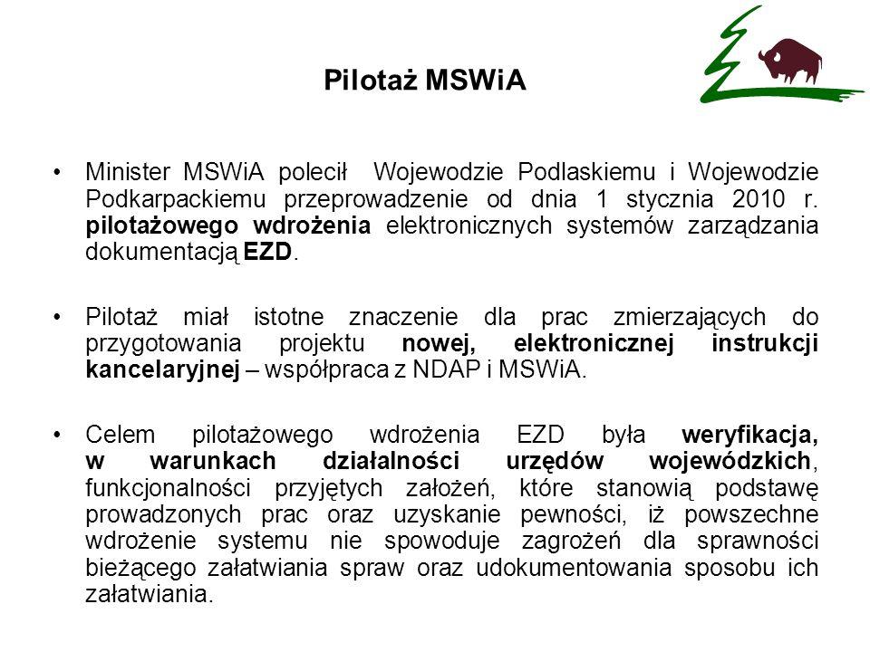 Pilotaż MSWiA