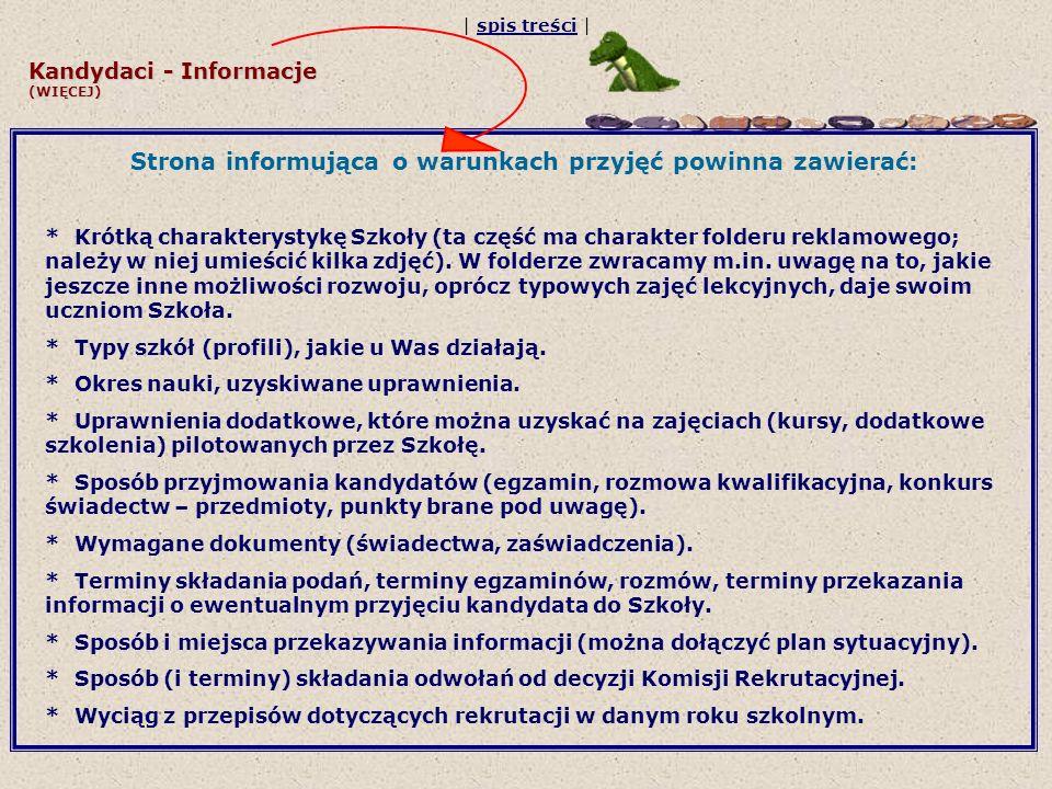 Kandydaci - Informacje (WIĘCEJ)