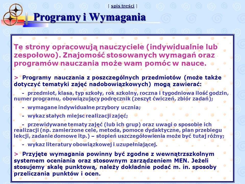 Programy i Wymagania