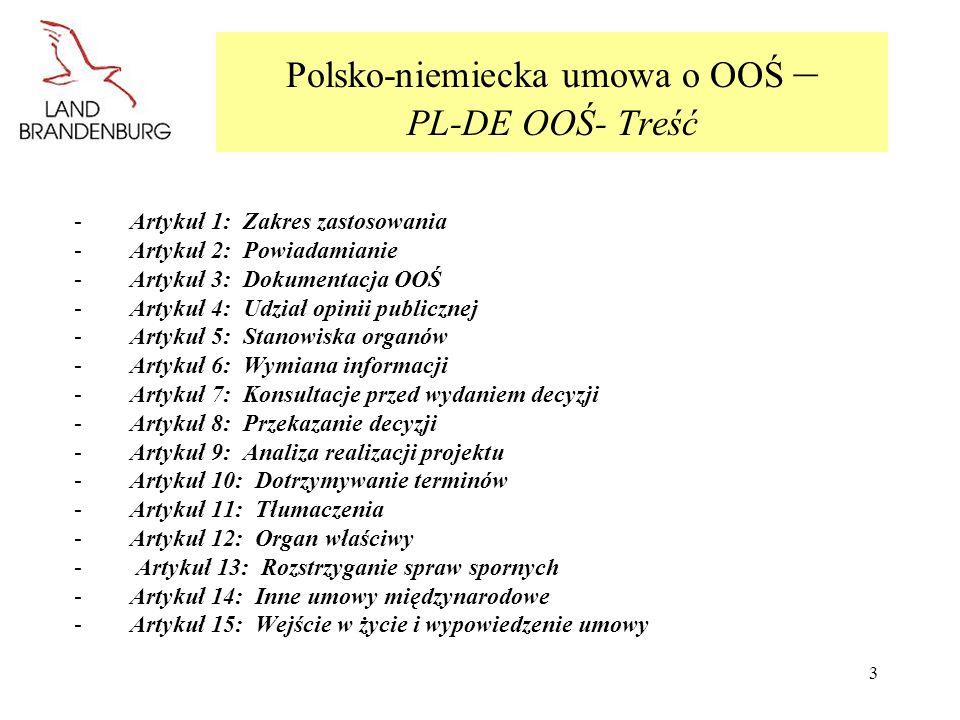 Polsko-niemiecka umowa o OOŚ – PL-DE OOŚ- Treść