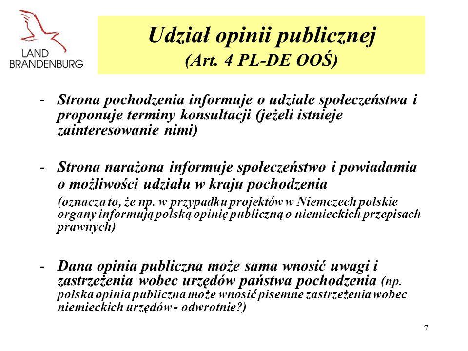 Udział opinii publicznej (Art. 4 PL-DE OOŚ)