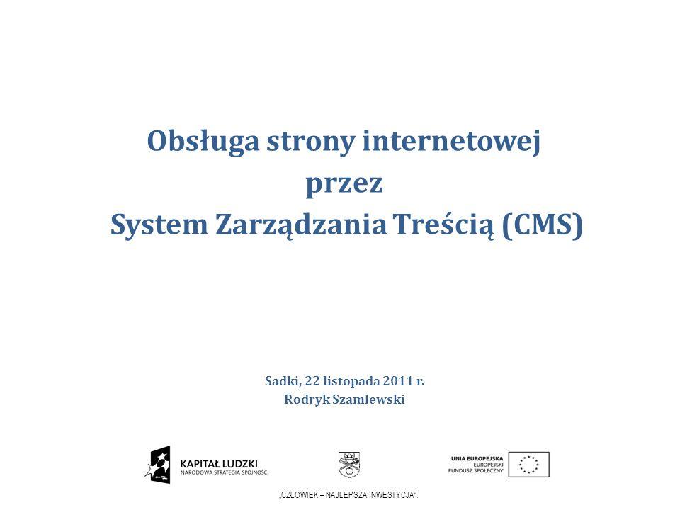 Obsługa strony internetowej przez System Zarządzania Treścią (CMS)