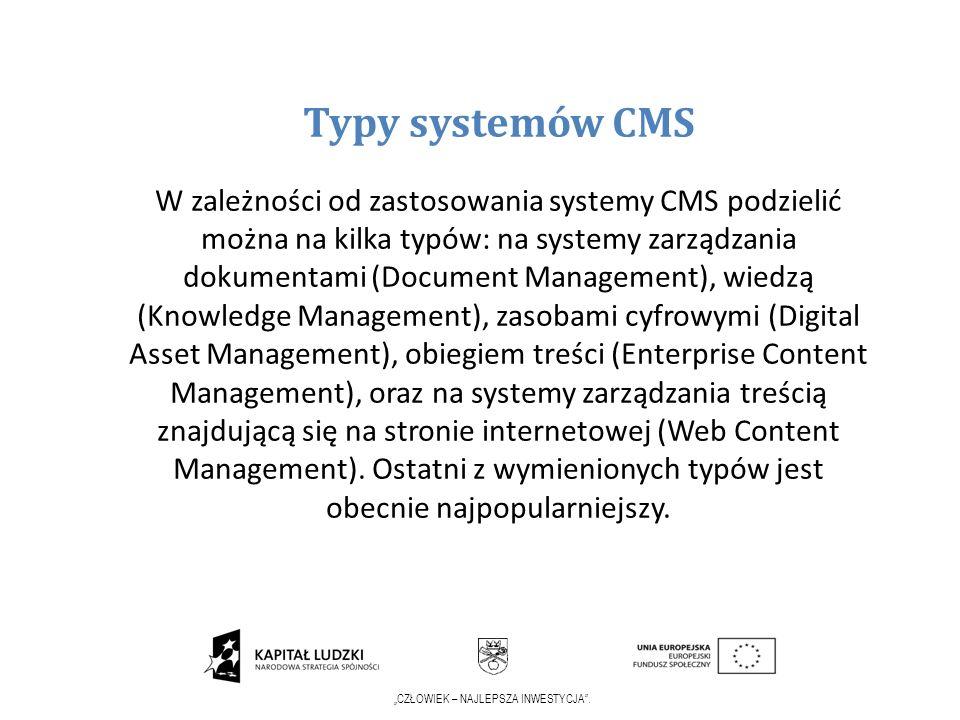 Typy systemów CMS